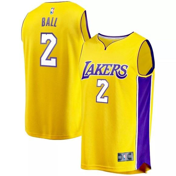size 40 c16fc b7501 Lonzo Ball NBA LA Lakers #2 Official Men's Jersey NWT